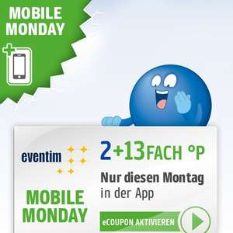 15-fach Payback Punkte bei Eventim am 08.07. (Mobile Monday - entspricht ca. 7,5% Cashback)