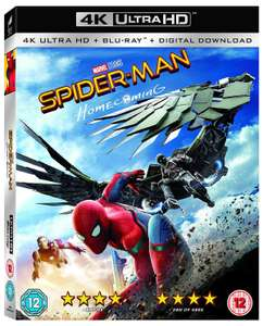 Spider-Man: Homecoming (4K Blu-ray + Blu-ray) für 12,24€ inkl. Versand (Zoom UK)