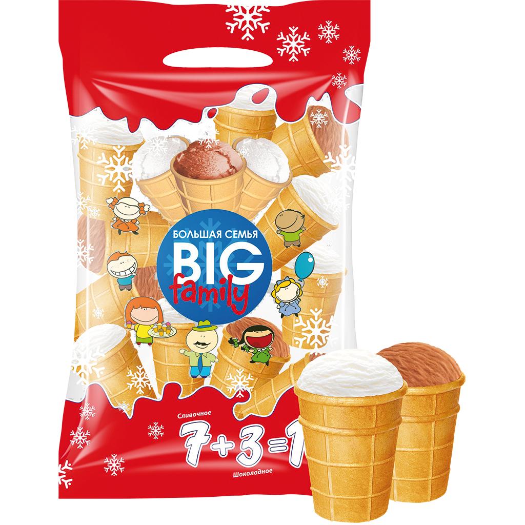 """[Mix Markt] EisProm """"Big Family"""" 10er Beutel mit russ. Eis im Waffelbecher (17½ Cent/Stk.)"""