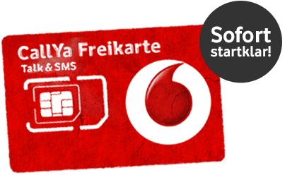 6,50 EUR pro Callya Freikarte Bestellung (Kostenlos) Als Vodafone-/KabelDeutschland-Bestandskunde ist keine Verifizierung nötig! Questler.de