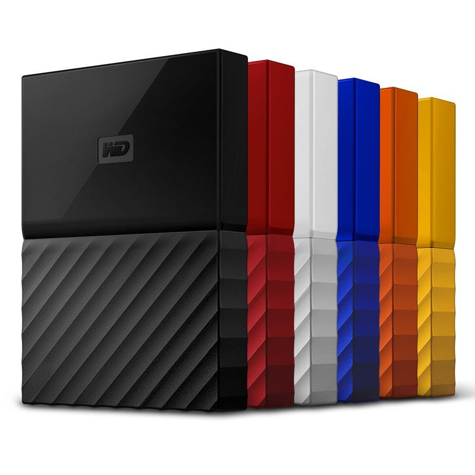 WD MY PASSPORT externe Festplatte (RECERTIFIED) / 1TB & 2TB  / div. Farben