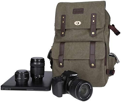 Rollei Vintage Fotorucksack / Everyday Backpack 30 l, Schnellzugriffsfach, handgepäcktauglich, inkl. Regenschutz