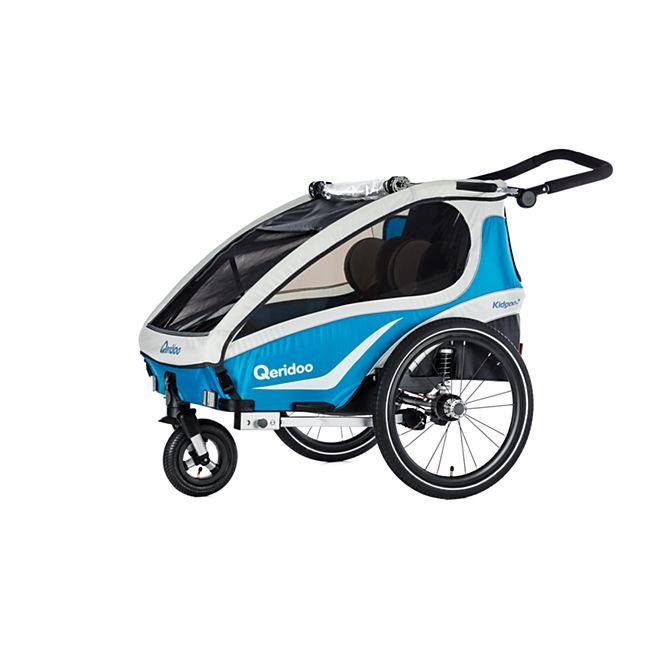 Qeridoo Kidgoo 2 (2018) - Kindersportwagen als Anhänger fürs Fahrrad, zum Joggen oder als Kinderwagen nutzbar