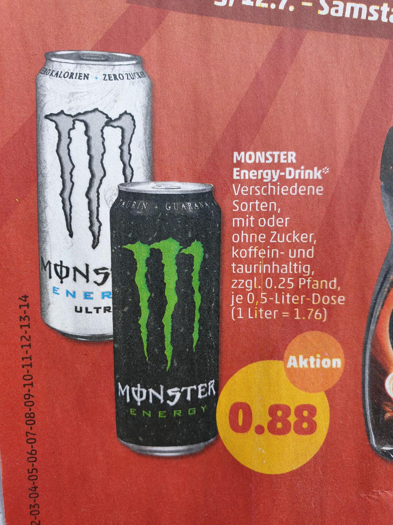 [Penny] Ab 12.7 Monster Energy Drink für je 0.88€