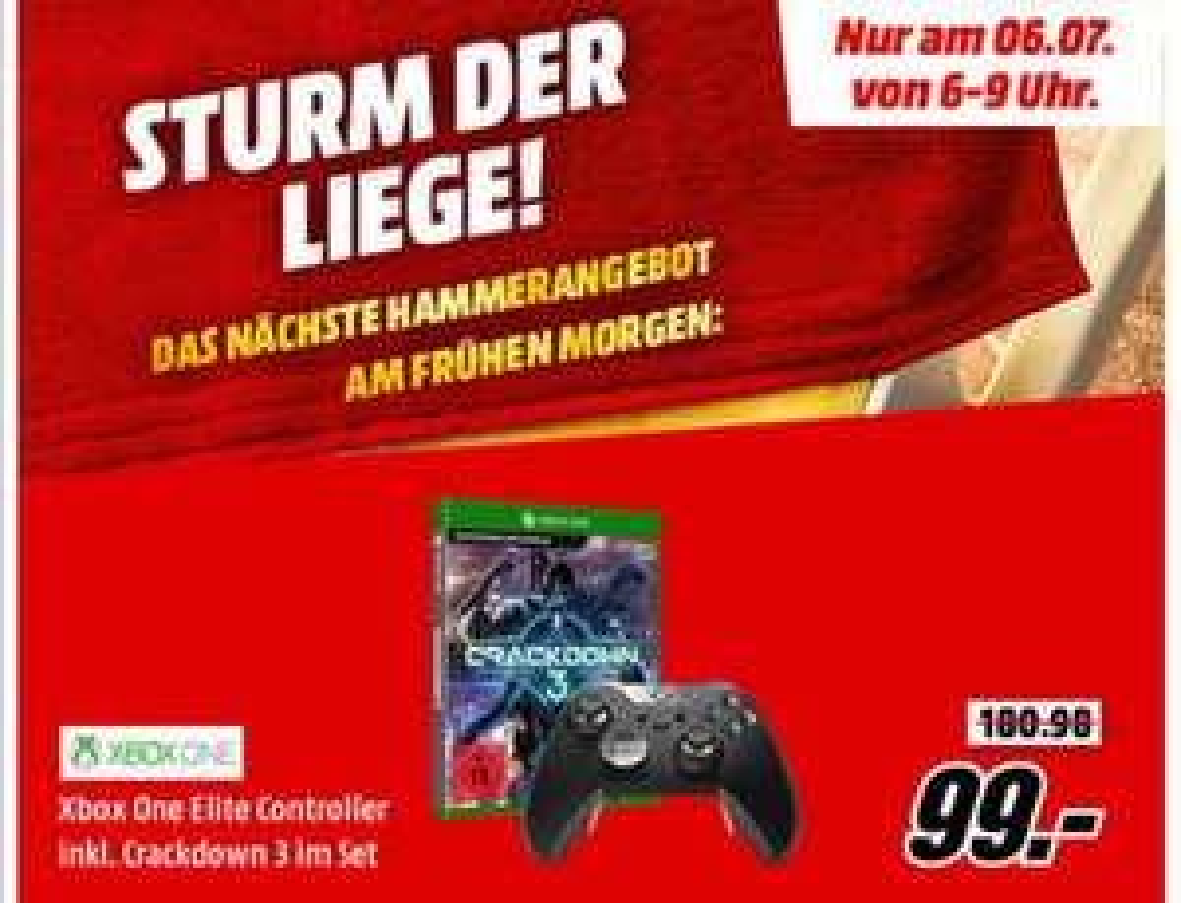Xbox One Elite Wireless Controller & Crackdown 3 für 99€
