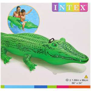 Intex aufblasbares Krokodil 168x66 cm für 3,99€ bei Action FILIALE [Dauersortiment]