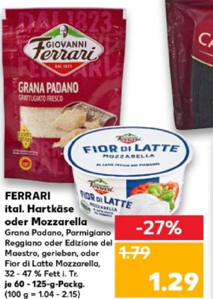 [Kaufland] Giovanni Ferrari Parmesan 60g gerieben für 0,29€ dank Coupon