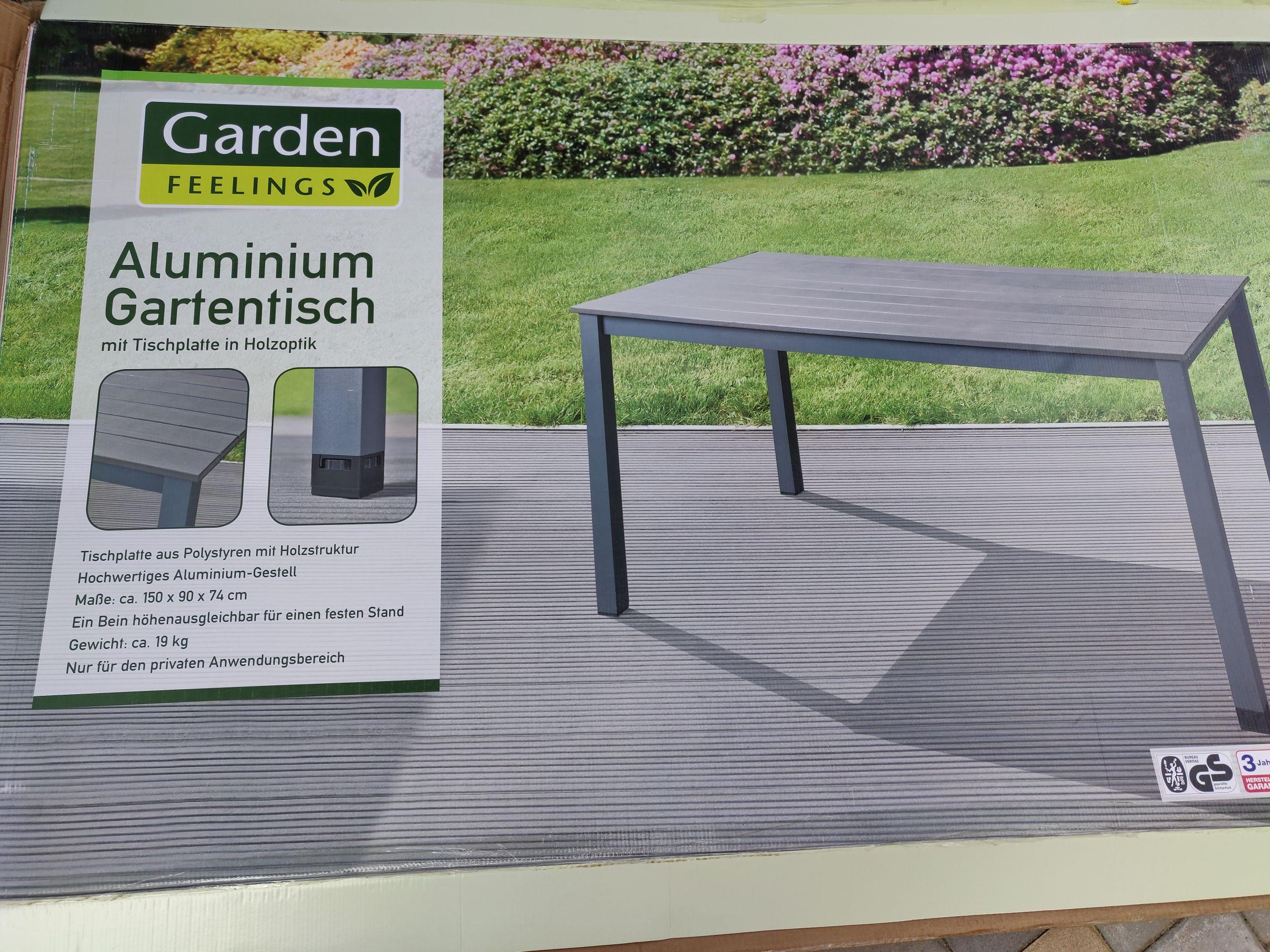 Lokal (Aldi Baunatal) Aluminium Gartentisch