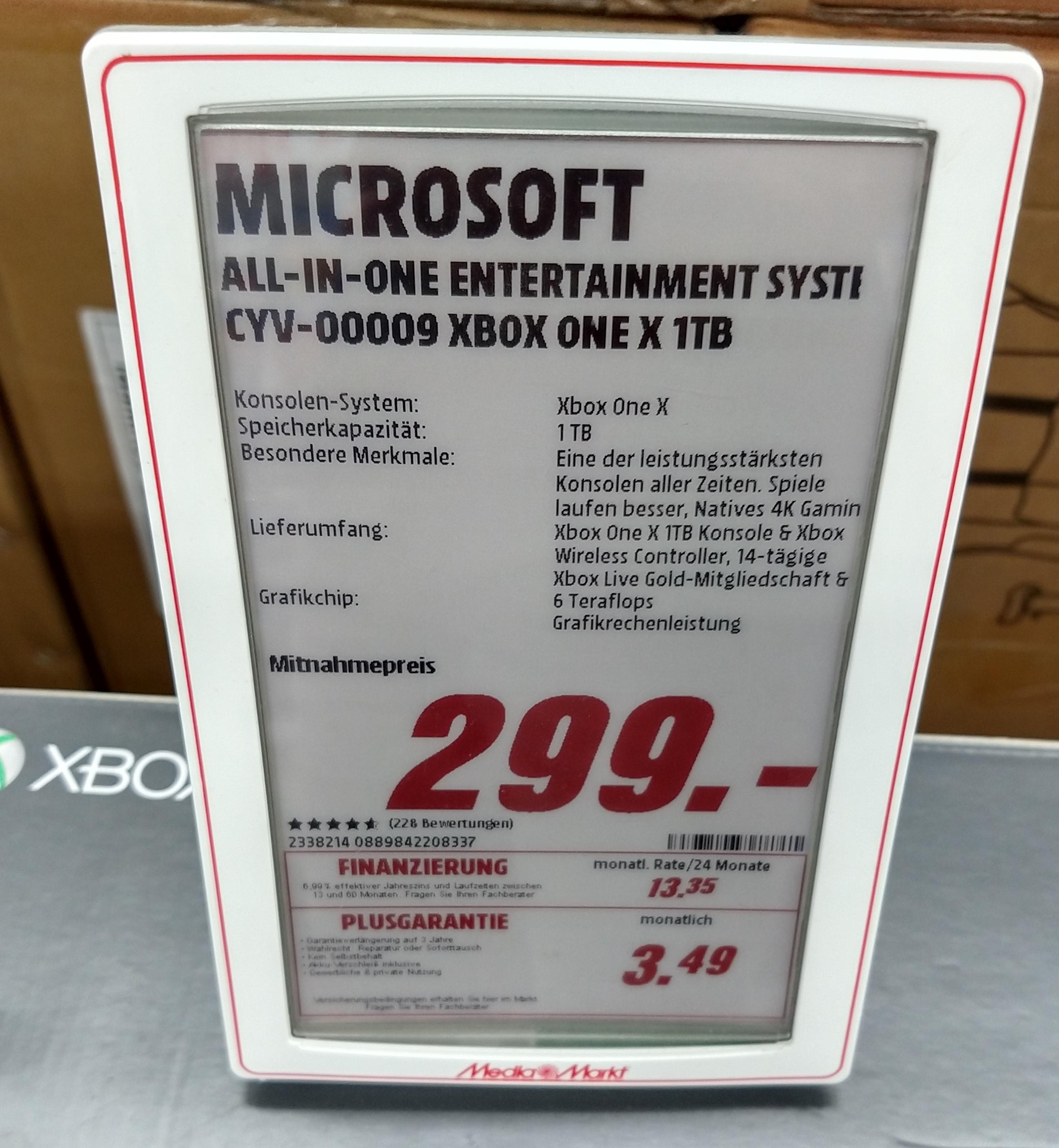 Xbox One X [lokal Mediamarkt Homburg Saar]