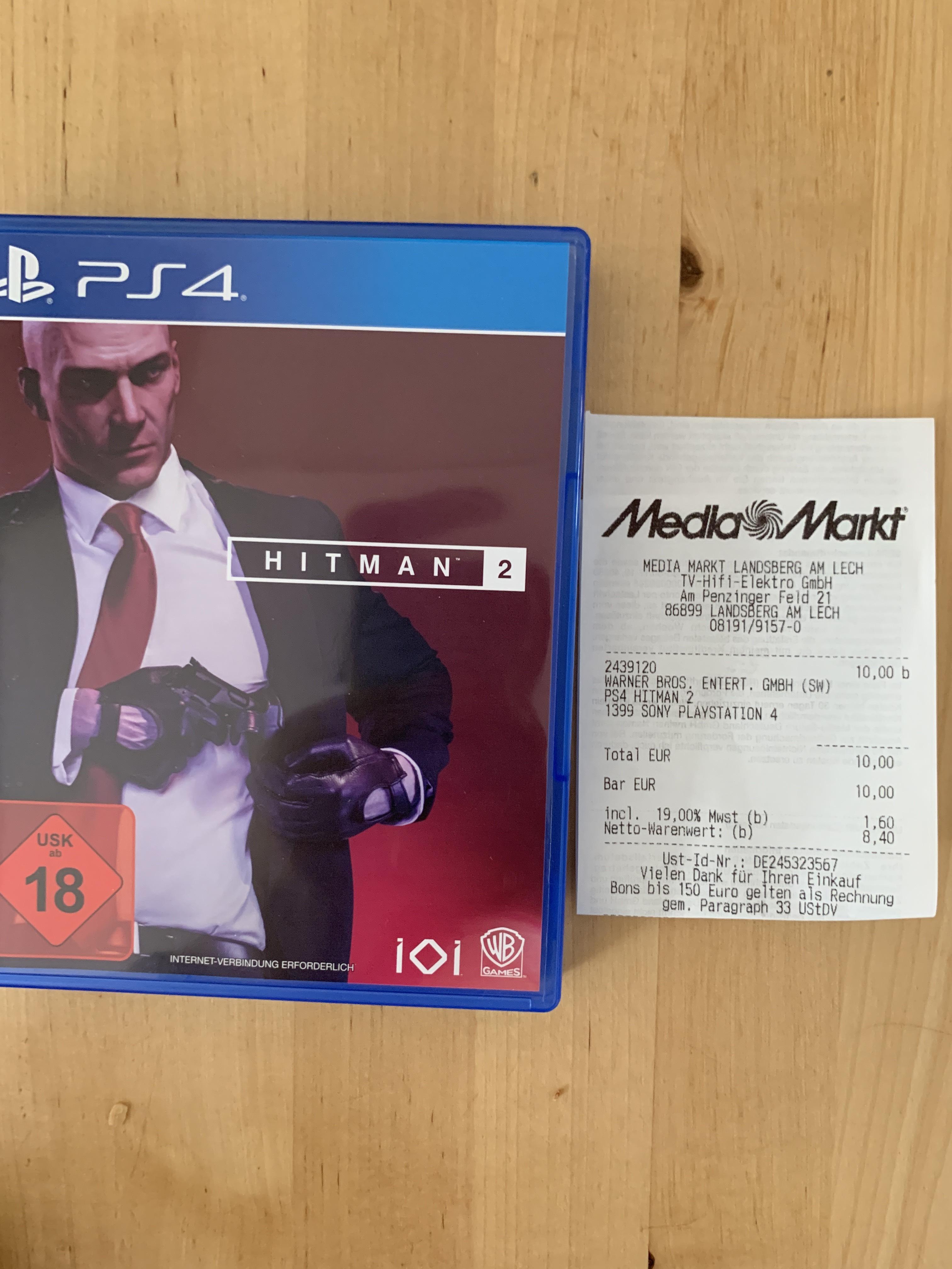 Hitman 2 PS4 - [Lokal] MediaMarkt Landsberg