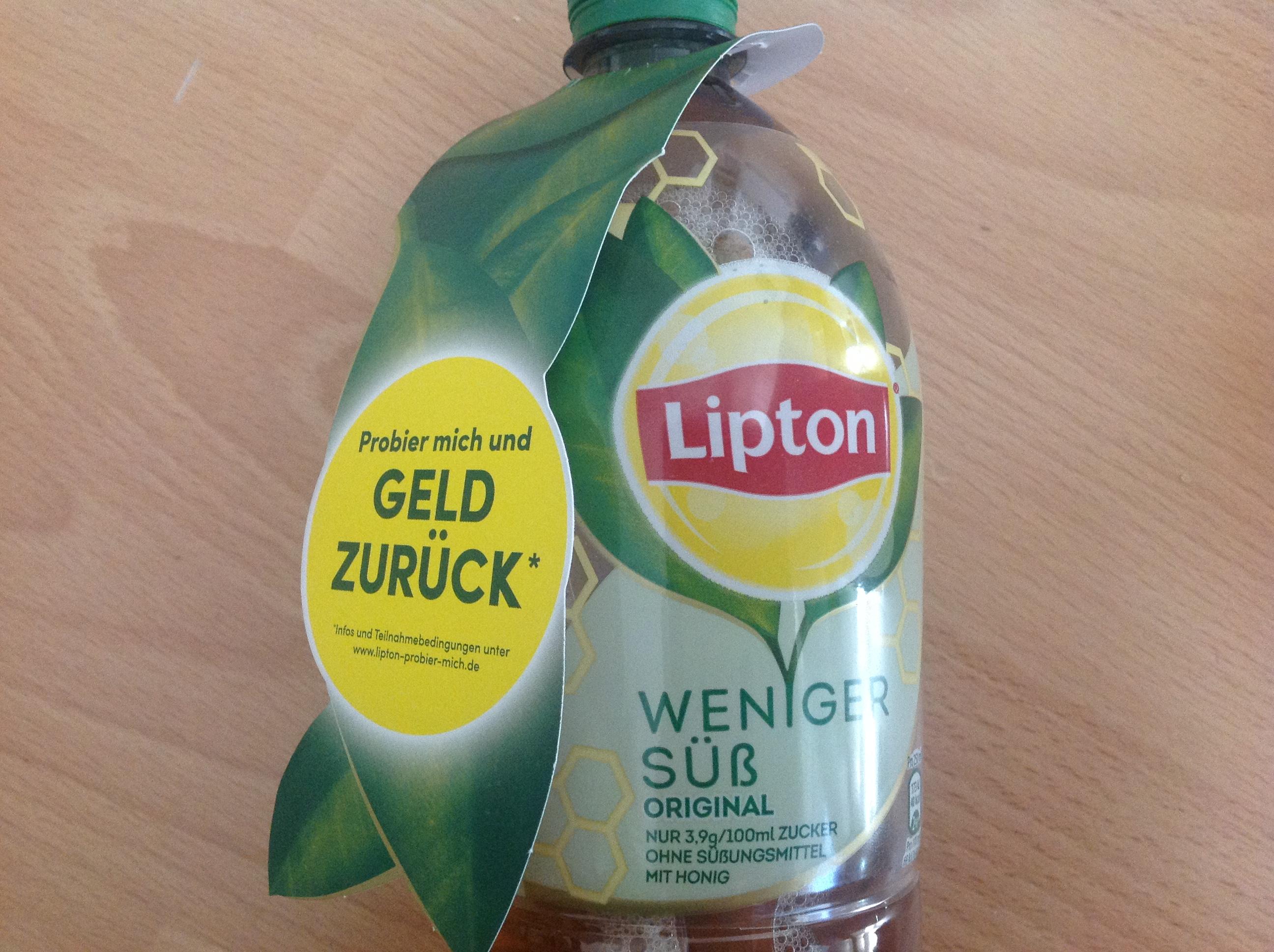 [GZG] Lipton Eistee weniger süß Original oder Pfirsich Nektarine 1,25 l gratis testen