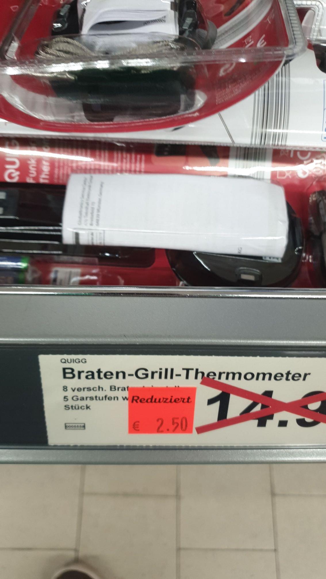 [Lokal - Aldi Nord Recklinghausen] quigg braten grill thermometer aus Aprilaktion für nur 2,50 EUR