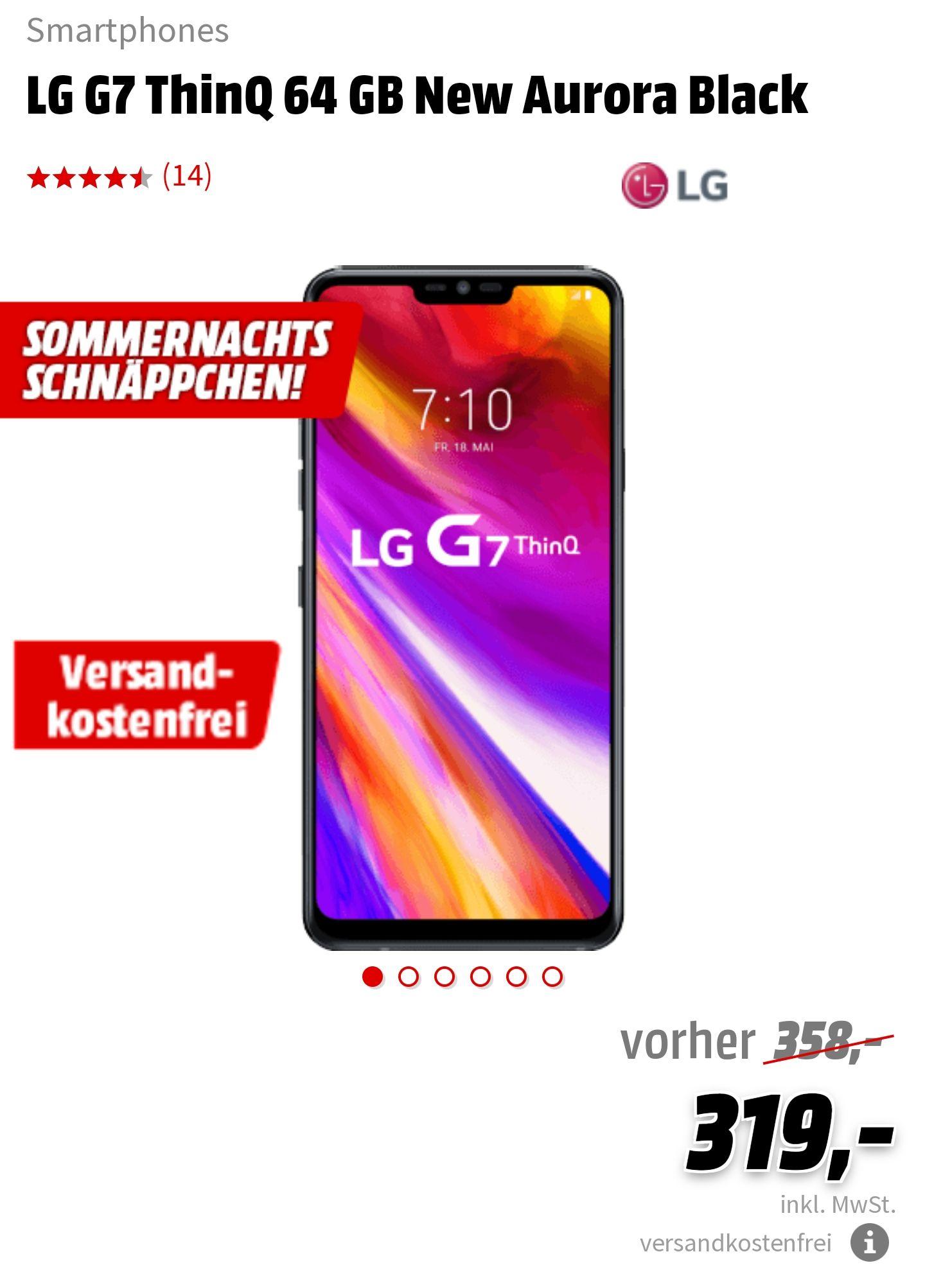 LG G7 ThinQ Sommernachtsschnäppchen