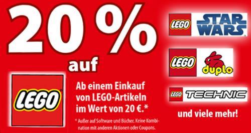 [OFFLINE] LEGO - 20% (auch auf reduzierte Ware) bei Spiele Max (MW: 20€)