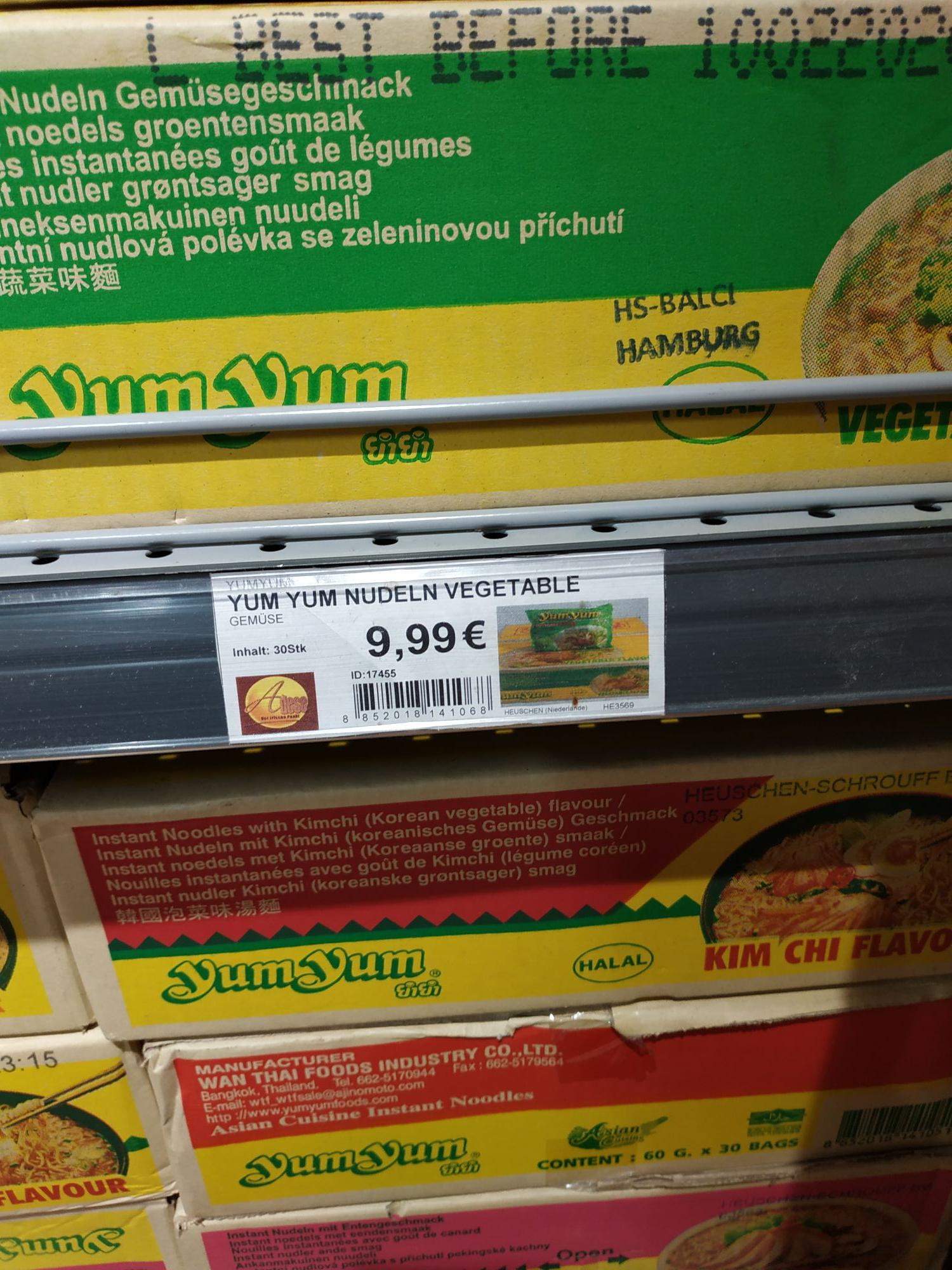 Lokal Hamburg Harburg Adese Markt YumYum verschiedene 30er Pack
