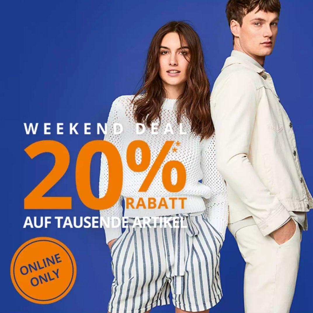 [Peek&Cloppenburg] online 20% Rabatt extra