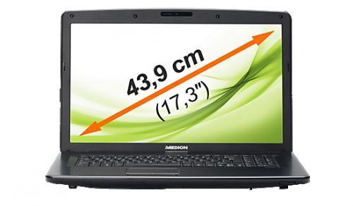 """MEDION MD 98108 E7221 Notebook 17,3"""" / 43,9cm LED Intel i3 2,3GHz 8GB 750GB"""