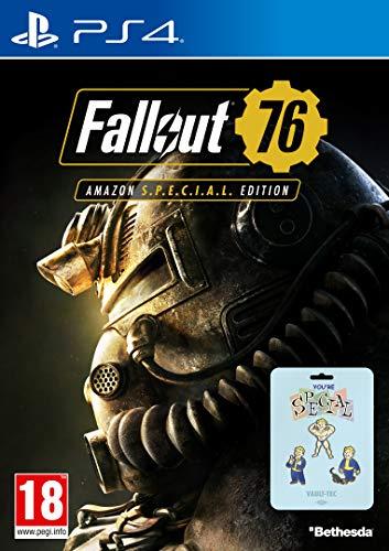 Fallout 76 - Amazon S.P.E.C.I.A.L Edition Ps4 Playstation 4 inkl 3 Pins (Prinzipiell mehr Wert als das Spiel selbst) für 8,44€ + Versand