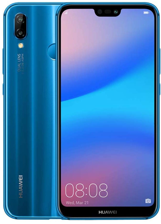 """HUAWEI P20 lite  Dual-SIM (5,84"""" 2.280 x 1.080), 64GB, 4GB RAM, 3.000 mAh, Android 9.0) Dunkel Blau + Falthülle (Amazon Exklusiv)"""