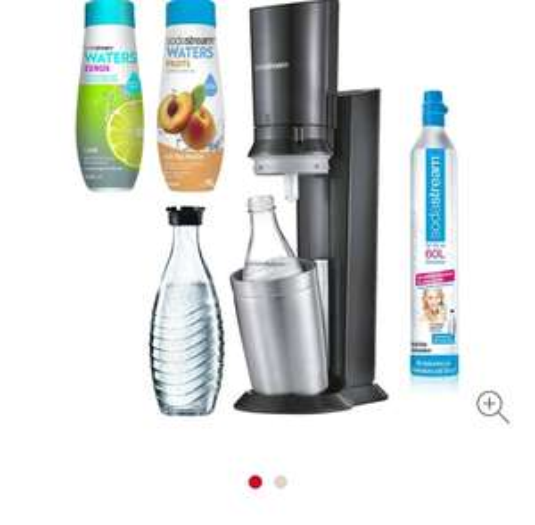SodaStream Crystal 2.0 + 2 Glaskaraffen + 2 x Sirup bei REWE