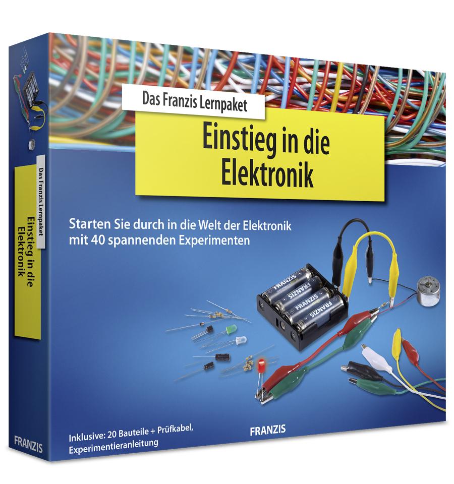 Franzis Lernpaket: Einstieg in die Elektronik (20 Bauteile, Prüfkabel, Software, Experimentieranleitung, Hanbuch)