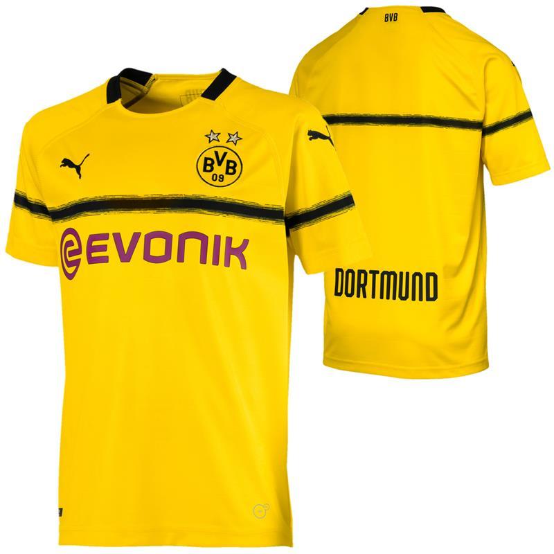Puma BVB Borussia Dortmund Ausweichtrikot Pokal Saison 2018 / 19 für Herren Gr. S - L & Kinder Gr. 128 - 176