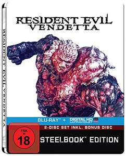 Resident Evil: Vendetta Limited Steelbook Edition (Blu-ray + Bonus Blu-ray + UV Copy) für 9,49€ (Amazon)