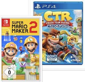 Super Mario Maker 2 für 39,99€ o. Crash Team Racing Nitro Fueled für 27,99€ mit Masterpass