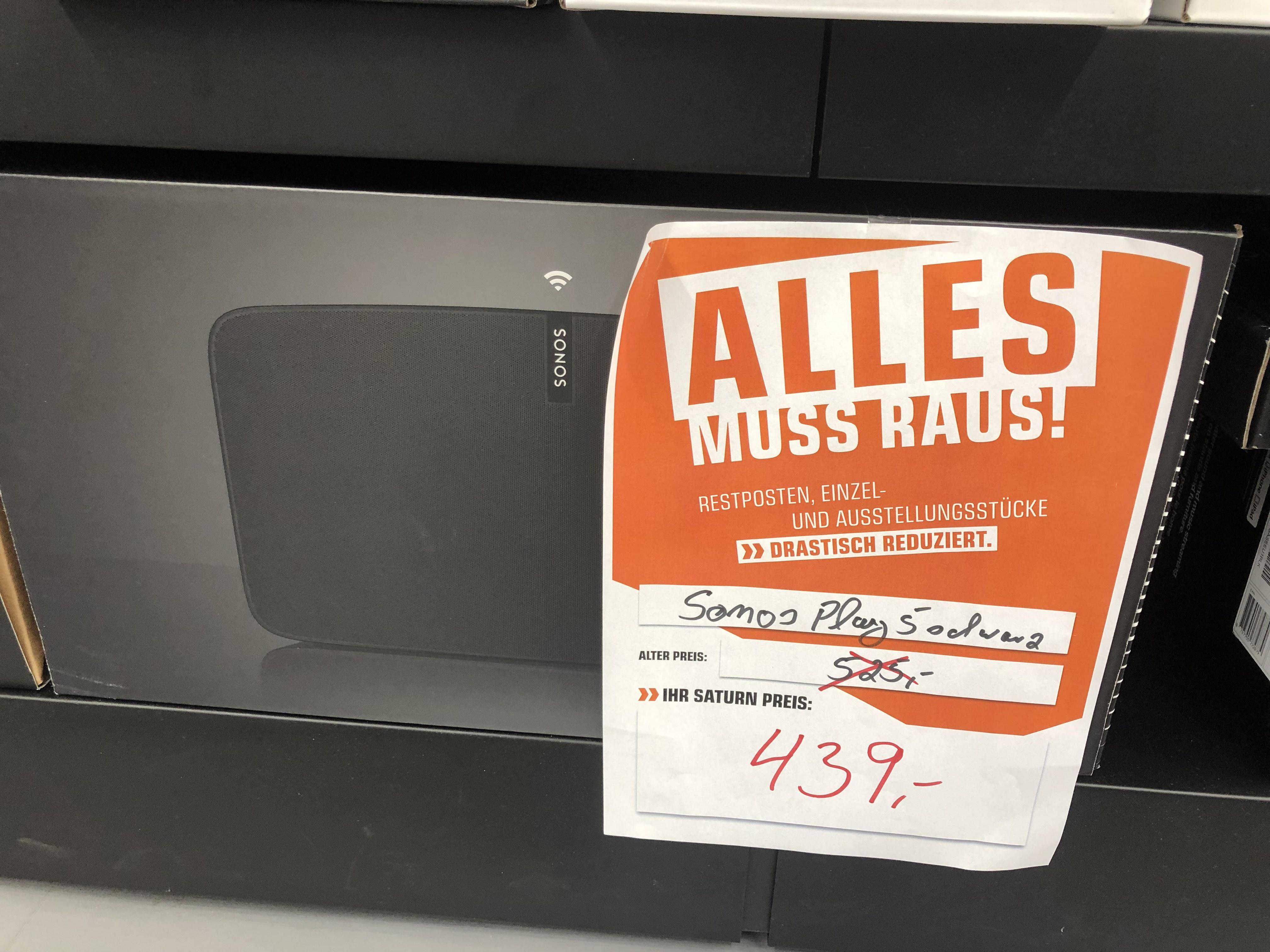 SONOS PLAY:5 Multiroom Lautsprecher, schwarz [Lokal] im Saturn Bielefeld für 439,-