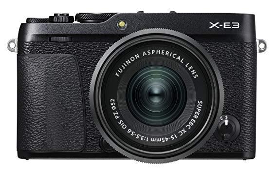 Fujifilm X-E3 Systemkamera schwarz inkl. Fujinon XC15-45F3,5-5,6 Objektiv