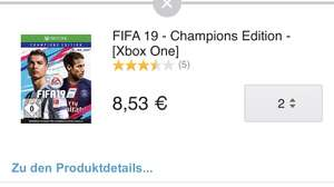 Lokal Berlin Fifa 19 Champions Edition Xbox One Amazon Prime Now