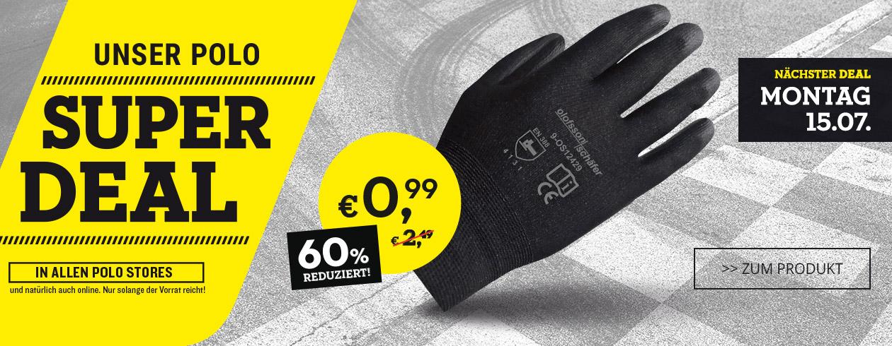 Polo Motorrad: Werkstatthandschuh 0,99 €, kostenlos Zero und Suzuki fahren (lokal Wiesbaden)