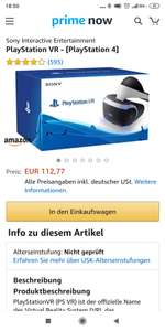 Playstation VR Headset Amazon Prime Now Berlin