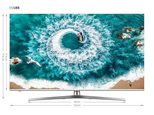 [amazon] Hisense H55U8B 138 cm (55 Zoll) Fernseher (4K Ultra HD, HDR 1000, DolbyVision, Triple Tuner, Smart-TV, USB-Aufnahmefunktion, WCG)