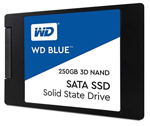 """Western Digital Blue SSD 3D 250GB (2,5"""", 3D-NAND TLC, DRAM Cache, R:550MB/s, W:525MB/s)"""