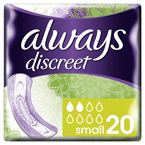 (Amazon ) 6x20 Stück Always Discreet Inkontinenz-Einlagen, klein, für empfindliche Blase