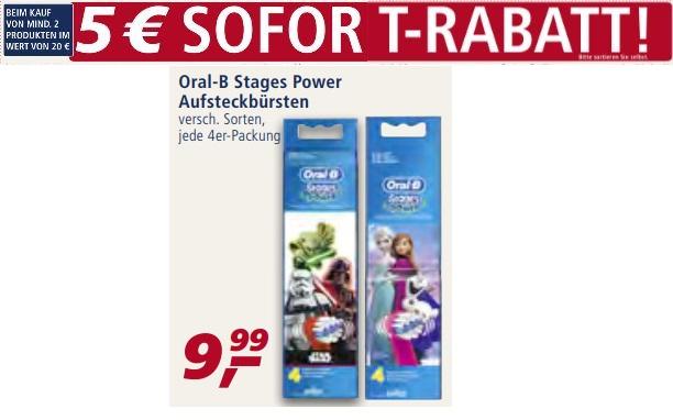 real  - 3 Packungen Oral-B Stages Power Aufsteckbürsten für 24,97 Euro