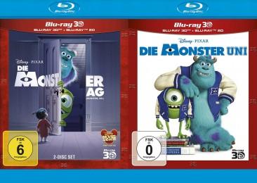 Die Monster AG 3D + Die Monster Uni 3D Set (Blu-ray 3D + Blu-ray) für 19,99€ (Media-Dealer)
