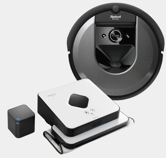 iRobot Set Roomba® i7+ (i7558) Saugroboter mit automatischer Absaugstation + gratis Braava™ 390T Wischroboter