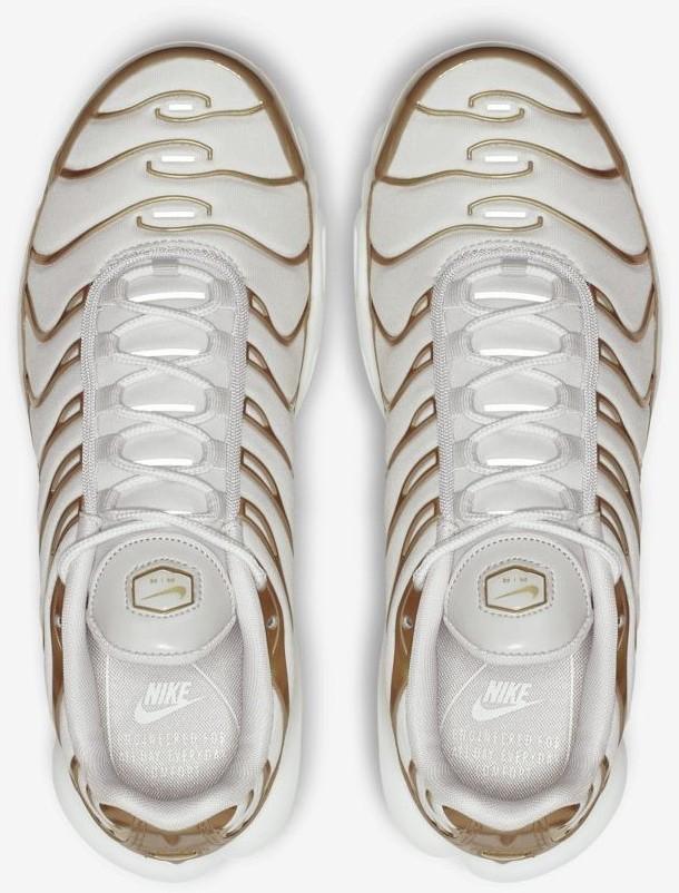 [Foot Locker] Nike (Damen) Wmns Air Max Plus in Gold/Weiß von 36.5 bis 42