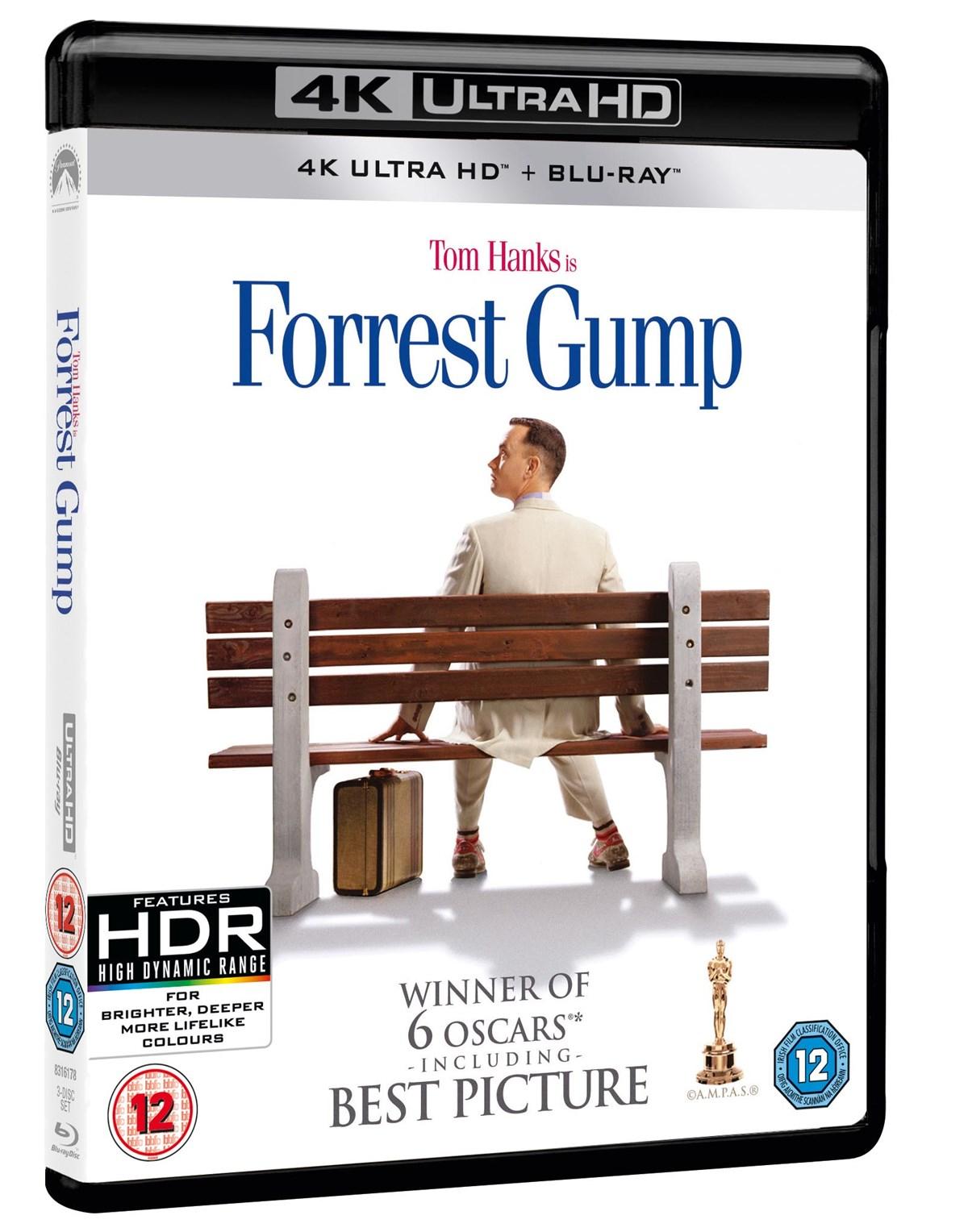 Forrest Gump (4K Blu-ray + Blu-ray) und weitere 4K Tom Hanks Filme für je 12,22€ inkl. Versand (Zoom UK)