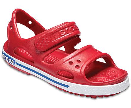 Crocs Crocband II Sandal Kids in Rot, Hellblau oder Oliv