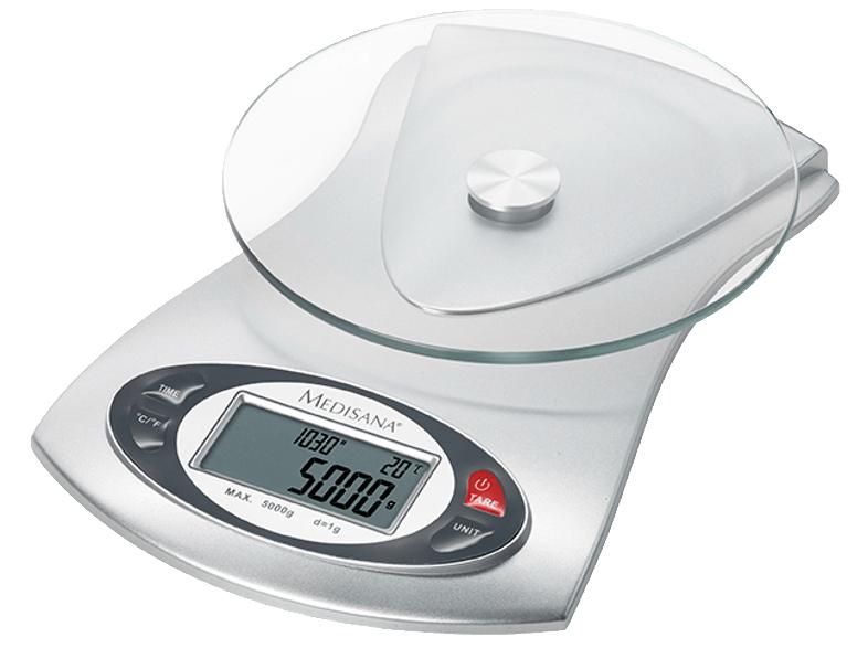 Medisana KS 220 Küchenwaage (Max. Tragkraft: 5 kg, Tara-Zuwiegemöglichkeit, Abschaltautomatik) für 15€ versandkostenfrei (Media Markt)