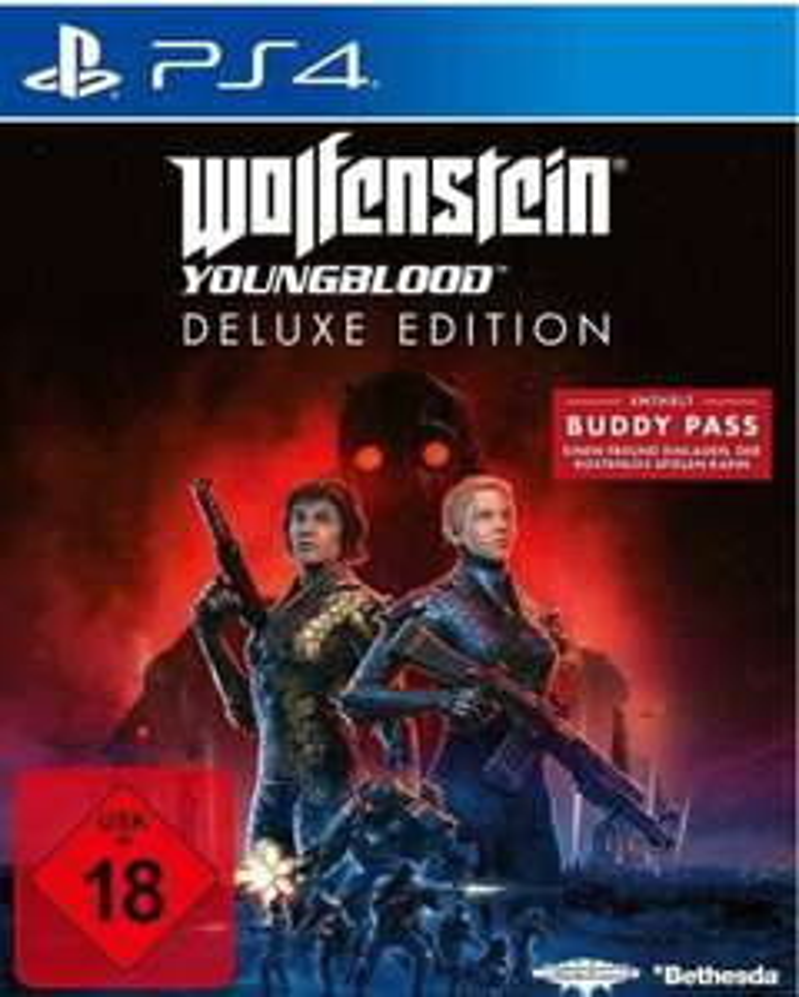 [Rakuten/Bücher.de] Wolfenstein: Youngblood Deluxe Edition (PlaySta tion 4, PS4, Xbox One, Switch) mit Masterpass 28,99/29,99