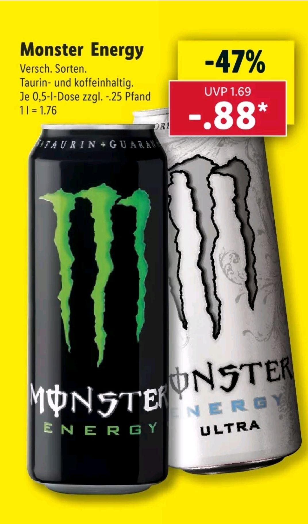 [Lidl] Ab 19.07 Monster Energy Drink für 0.88€