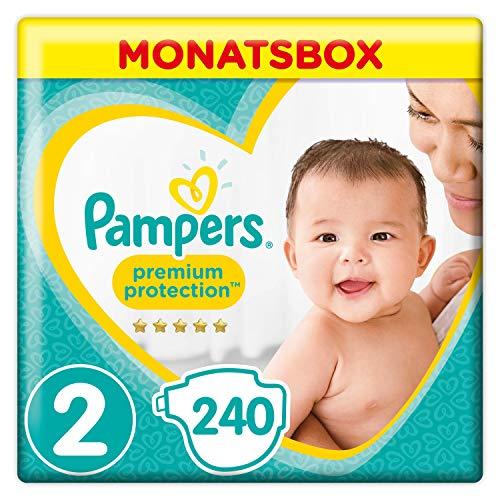 Pampers Premium Protection Windeln - Gr. 2, 240 Stück, für 0,15€ pro Stück (Gr. 3-6 ebenfalls reduziert) [Amazon]