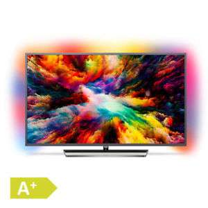 Philips 139cm 55 Zoll 4K Ultra HD LED Fernseher 3fach Ambilight HDR Android TV. Modell: 55PUS7393/12 - Jahrgang 2018