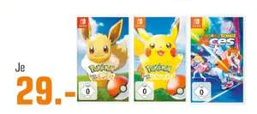 (Regional Saturn Dortmund und Umgebung)Pokémon: Let's Go, Evoli u. Pikatchu(Switch)/ Mario Tennis: Aces (Switch) für je 29€