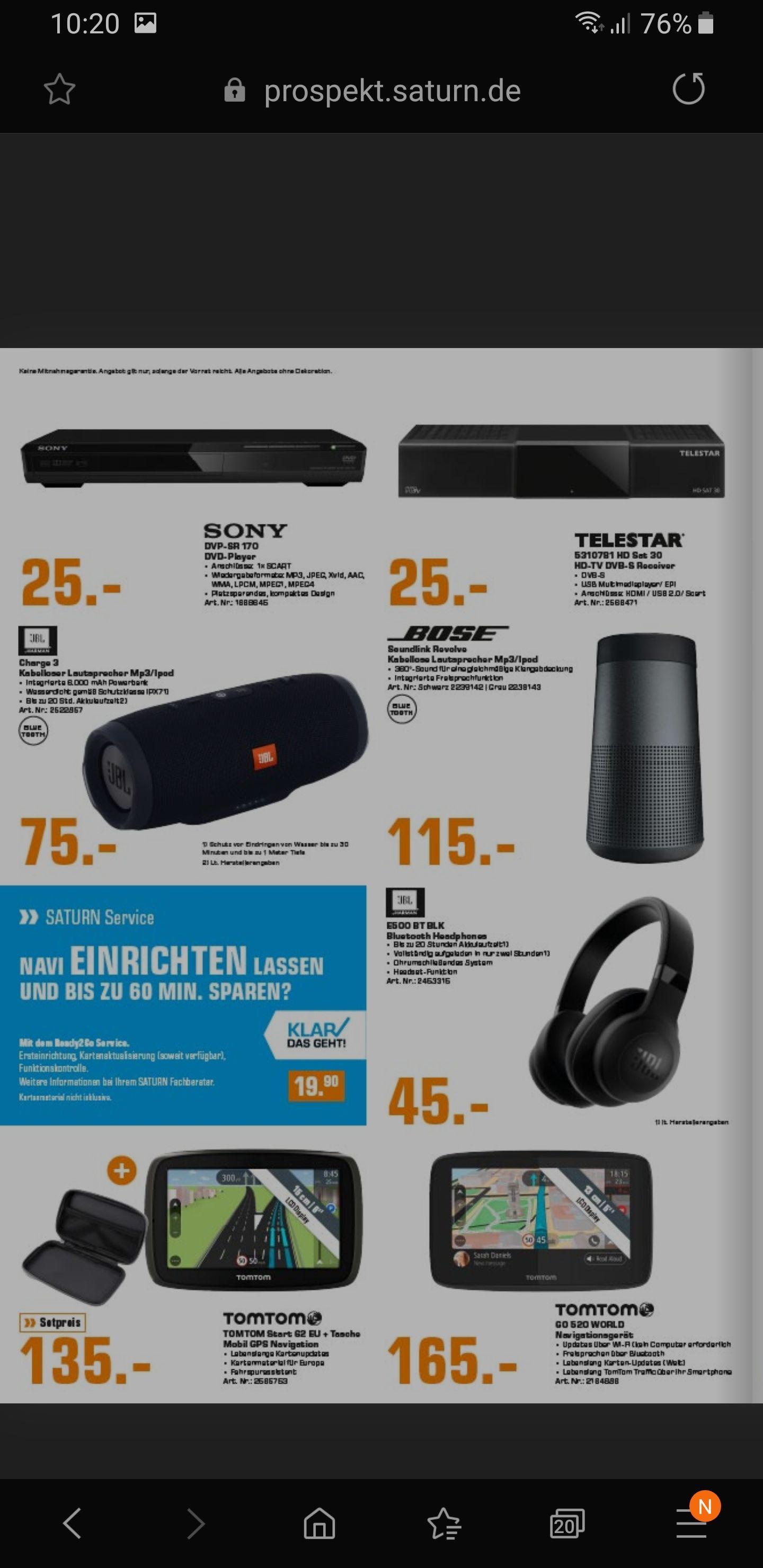 [Lokal Saturn Trier] JBL Charge 3 für 75€, JBL E500BT für 45€, Sony WH-1000XM3  für 245€