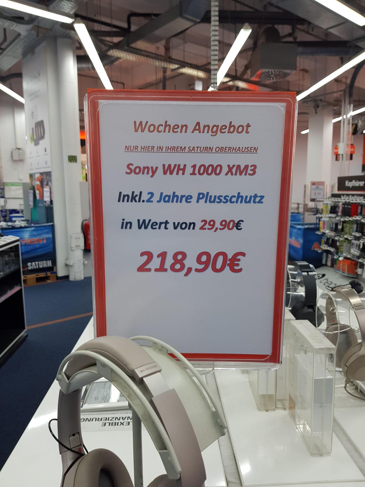 Bestpreis Sony WH1000 XM3 silber oder schwarz Saturn Oberhausen inkl. Plusschutz im Wert von 29.90